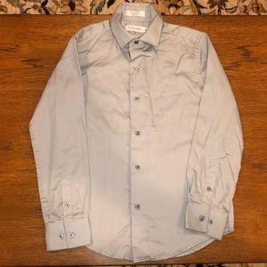 Light gray Calvin Klein boys dress shirt size 10